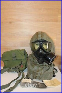 Gas Mask Full Face Respirator Size Medium With Extras