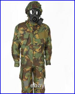 Gas Mask Respirator M74 w 40mm Filter & Carry Bag + DMP British chemical Suit ID