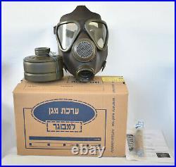 German Military M-65 Drager Gas Mask Respirator Size 2 Medium Filter & Injector