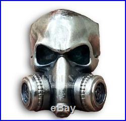 Gothic Gas Mask Respirator Skull Biker Rider 925 Silver Ring Heavy big