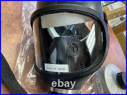 Israel Surplus Military Issue Gas Mask Full Face Respirator 5 NATO Filters READ