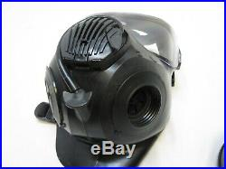 LARGE AVON C50 GAS MASK 40mm NATO FILTER w. DROP LEG POUCH AIR RESPIRATOR USED