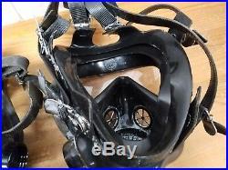 Lot of (5) Five 3M 7800 Full Silicone Respirators Gas Mask Prepper Gear