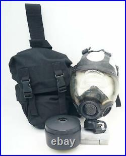 MSA 40mm Millennium CBRN Gas Mask Respirator Medium WithThigh Holster/Filter
