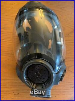MSA ADVANTAGE 1000 Riot Gas Mask PLUS NATO Filter Adapter, #813859 Sz. M, NEW