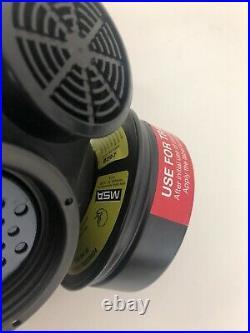 MSA Advantage 1000 Riot Control Full Face Respirator Gas Mask Large Millennium