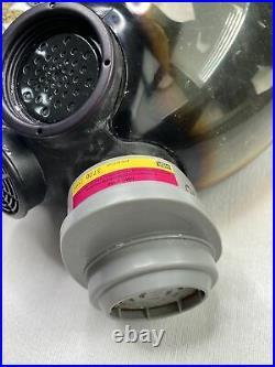 MSA Advantage 1000 Riot Control Full Face Respirator Gas Mask, Size Large -READ