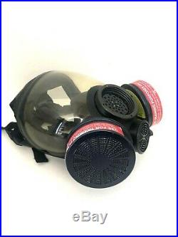 MSA Advantage 1000 Riot Control Full Face Respirator Gas Mask, Size Medium MD