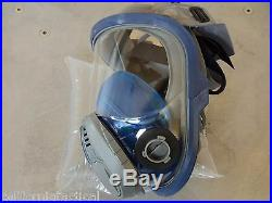MSA Advantage 3200 Gas Mask w New Filter Exp03/2023 & 2 30ct ProKi Size MED