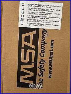 MSA CBRN Gas Mask With NEW CBRN Filter (exp 2023) 5-point Head Harness / Medium