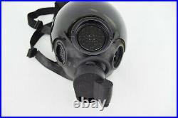 MSA CBRN Riot Control Gas Mask Medium Respirator 5073 with Tinted Lens Cover