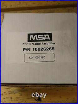 MSA ESP II Esp2 Millennium Gas Mask / Advantage 1000 Respirator Voice Amp NIB
