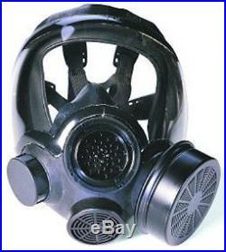 MSA FULL FACEPIECE RESPIRATOR Advantage 1000 Hycar Riot Control Gas Mask (LRG)