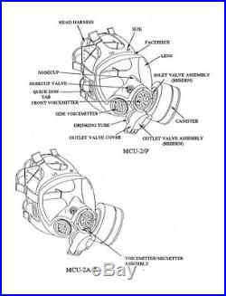 MSA Full Face Gas Mask Chem/Bio LARGE MCU 2A/P with Filters plus more (2/P)