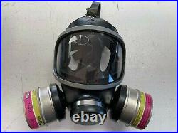 MSA Gas Mask Respirator Size S M4C3 TWIN FILTER WITH 2 FILTERS