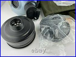 MSA Gray Millennium 40mm Gas Mask Respirator, sz M + Sealed Filter, Carrier Bag