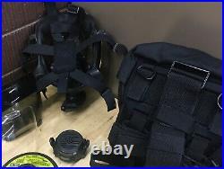 MSA Millennium CBRN 40mm Riot Gas Mask Size Medium Outserts Voice Amp Bag Filter