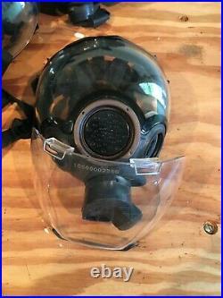 MSA Millennium CBRN Full Face Respirator Gas Mask Complete Kits Large READ Below