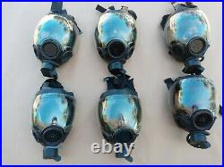 MSA Millennium CBRN/NBC Gas Mask withDrink Tube & Clear Lens Outsert 10051287 Used