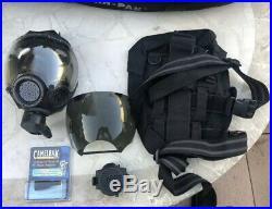 MSA Millennium Riot Control Respirator /Gas Mask + Bag $400 Amp Water Attach