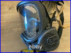 MSA Ultra Elite Fire Fighter/Gas Mask Size Medium Excellent Condition