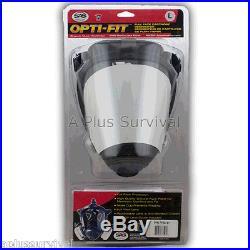Medium SAS Pro Opti-Fit Multi Use Full Face Respirator Gas Smoke Dust Mask