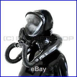 Nacken-respirator-gummi-smellbag-system Fuer Gasmaske Latexmaske Fetisch Cosplay