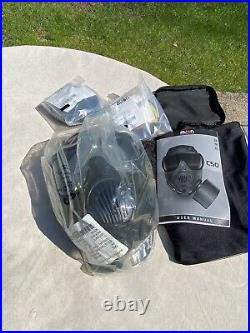 New Avon Protection C50 Twin Port CBRN Gas Mask Respirator with Bag Size Large