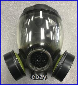 New MSA Gas Mask MD OEM Full Face Respirator Mask With2 Permissible Canisters