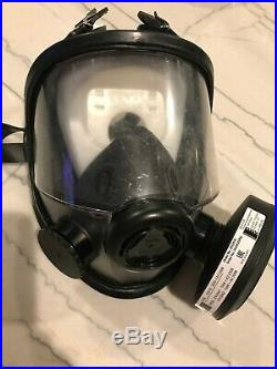 North 5400 54501 NEW CBRN full face Gas mask Respirator 2 filter 2030 40mm NATO