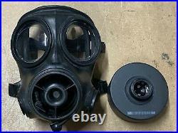 Original British Army AVON S10 NBC RESPIRATOR GAS MASK GOOD CONDITION SIZE 2