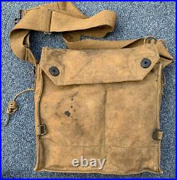 Original WWI WW1 US Military AEF Gas Mask Respirator withBag