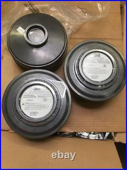 Qty Of 3, 3M GVP-402 ACID GAS CARTRIDGE FILTERS