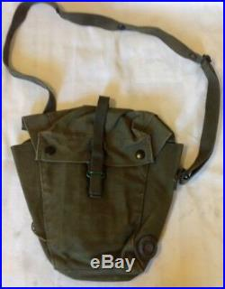 RARE Early 58 1958 Pattern Webbing S6 Respirator NBC Gas Mask Bag British 72 44