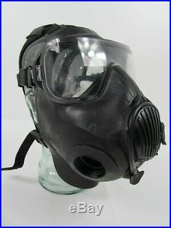 Rare British Army Ex Police Twin Port Avon C50 Black Respirator Gas Face Mask K1