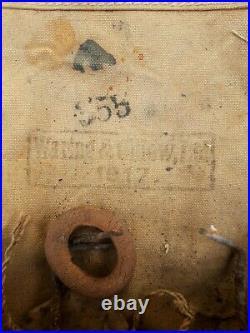 Rare Original WW1 WWI Small Box Respirator Gas Mask with Bag 1917 Dated