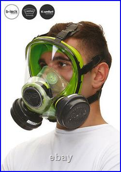 Respirator mask BLS full face with filters protection gas painting spraying 5700