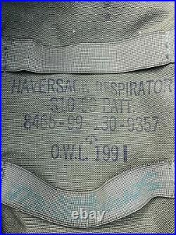 S10 British Army Respirator Size 2 Gas Mask with Haversack