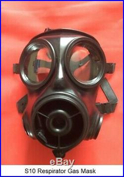 S10 Respirator Gas Mask Size 1 Date of mask 2009 with New filter 2036 & New Bag
