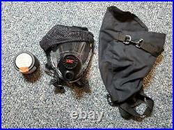 SCOTT-O-VISTA- Complete Full Face Gas Mask/Respirator, With 1 Filter & Bag NOS