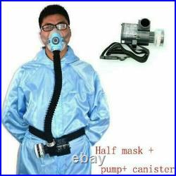 Safety Full Face Gas Mask Electric Constant Flow Respirator Supplied Air Fed