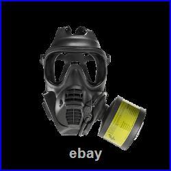 Scott FRR CBRN full face Gas mask Respirator 2 filters 2028+-BEAT AVON 40mm MEDI