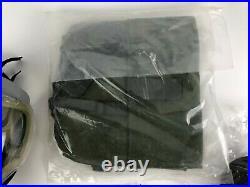 Scott Gray Millennium 40mm Respirator Gas Mask, M + Bag Filter Clear Outsert NOS