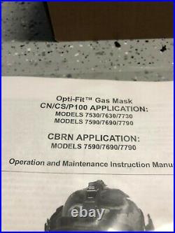 Sperian Survivair Opti-Fit CBRN Gas Mask Face Piece 7690 / 769020 Medium NEW