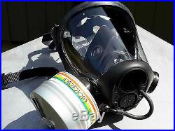 Survivair #763000 40mm NATO Opti-Fit Tactical Gas Mask withBrand New NBC Filter