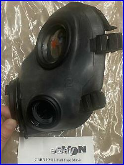 UNUSED FM12 Respirator AVON NBC Gas Mask SIZE 2