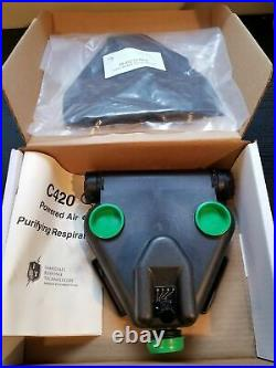 US C420 3-Speed PAPR Blower Unit Gas Mask Protection w Pouch & Remote Switch NEW