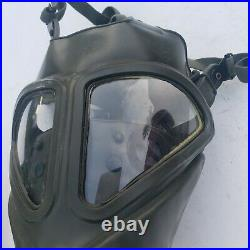 US Military Issue MSA Gas Mask Respirator Size M with Bag & clips