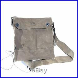 US WWI Military English Respirator Gas Mask WW1 Field Gear With Shoulder Bag