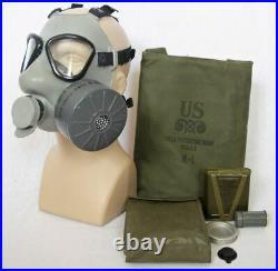 U. S. M9A1 Gas Mask SEALED CAN Medium